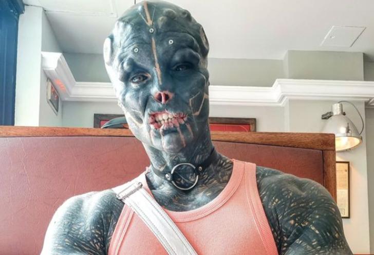 Burnunu bile aldırdı! Uzaylı gibi görünmek için yüzüne çeşitli modifiyeler yaptıran fenomen: Anthony Loffredo