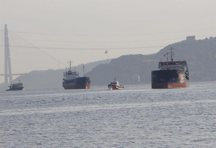 Son Dakika: İstanbul Yeniköy'de iki yük gemisi çarpıştı