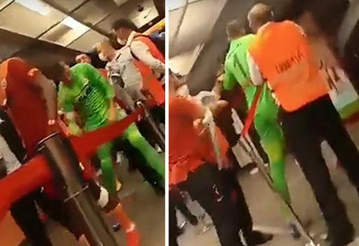 Galatasaray'da Muslera, rakip oyunculara saldırdı!