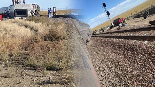 ABD'de yolcu treni raydan çıktı!