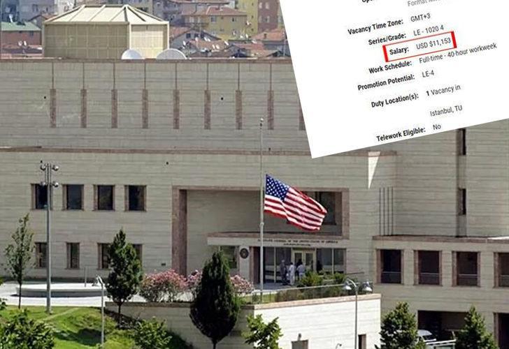 Yıllık 99 bin TL maaş! ABD İstanbul Başkonsolosluğu'nun iş ilanı paylaşımı sosyal medyada gündem oldu