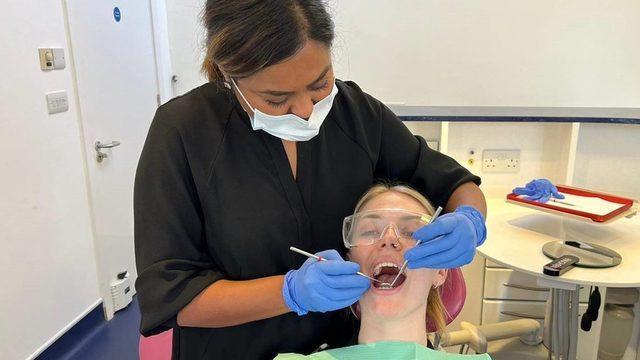 Diş hekimi Dipali Chokshi, Ulusal Sağlık Sistemi üzerinden gelen acil vakaların 2-3 ay beklemek zorunda kaldığını söylüyor