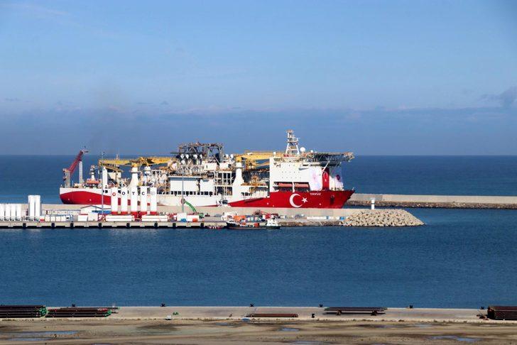 Yavuz sondaj gemisi Karadeniz'de