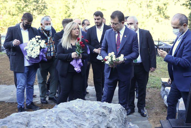 İstanbul Büyükşehir Belediye Başkanı İmamoğlu, Özkan Sümer'in mezarını ziyaret etti
