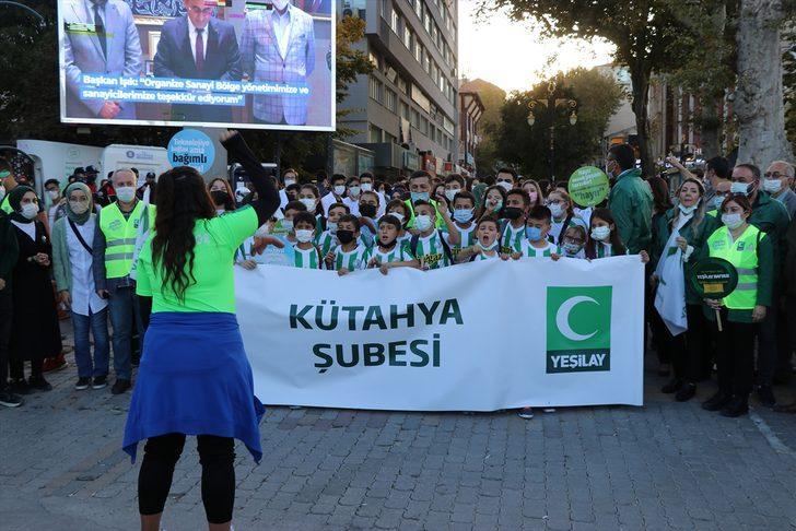 Kütahya'da bin öğrenci bağımlılığa karşı yürüdü