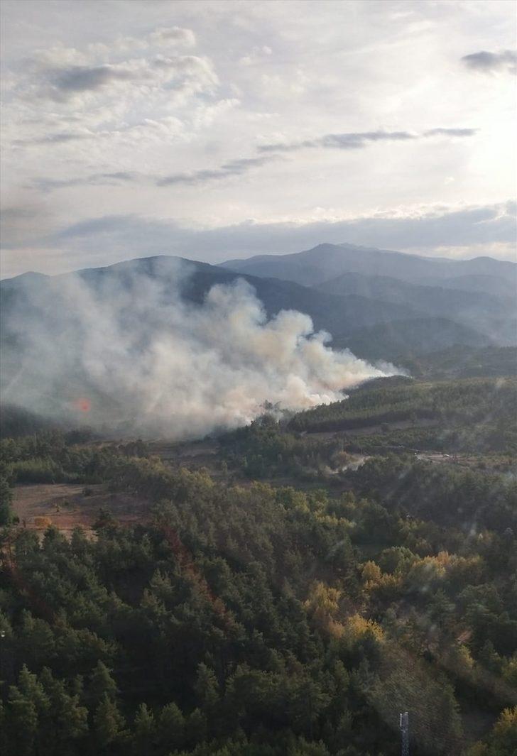 GÜNCELLEME - Kütahya'da çıkan orman yangını kısmen kontrol altına alındı