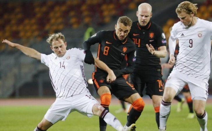 MAÇ SONUCU   Letonya 0-1 Hollanda