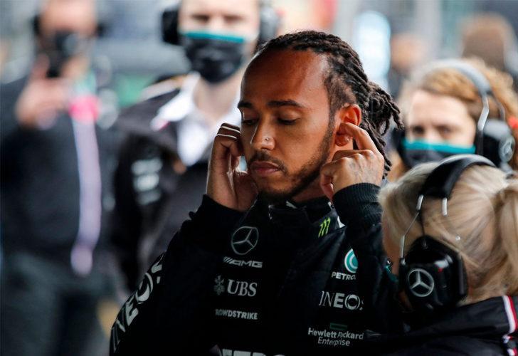 Lewis Hamilton, Mercedes ekibiyle tartıştı!