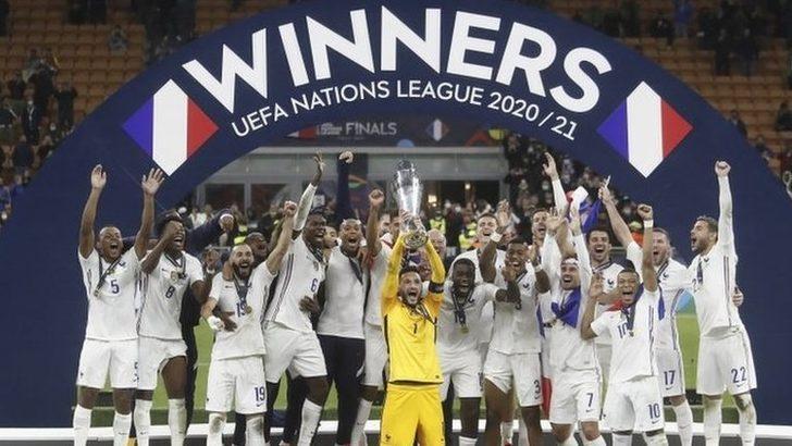 Fransa, UEFA Uluslar Ligi'nde İspanya'yı 2-1 yenerek şampiyon oldu