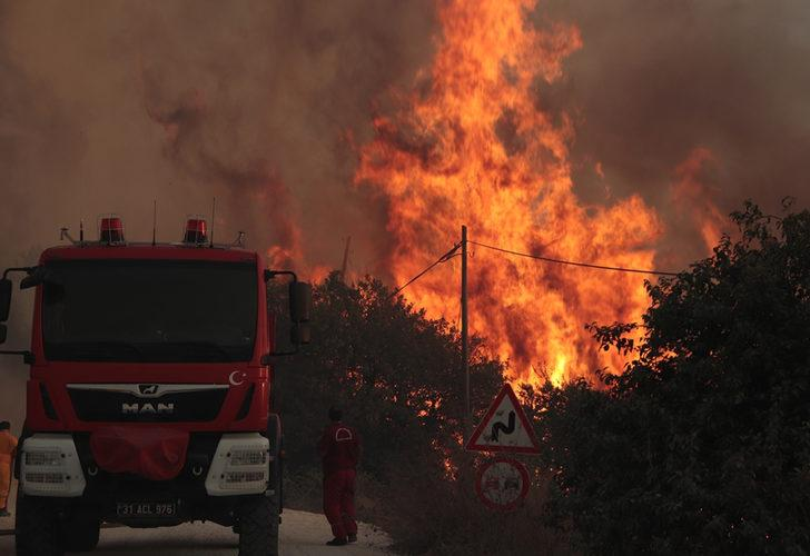 Hatay'da korkutan orman yangını