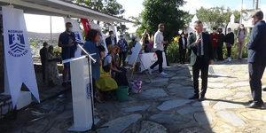 Bodrum'daki törende kriz! Alanı terk etti