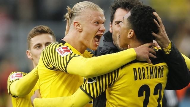 Dortmund'u Reus ve Haaland zafere uçurdu!
