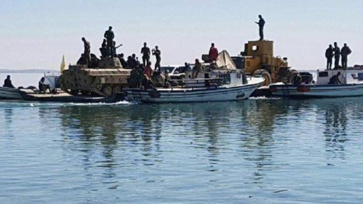 Rakka operasyonu'nda Fırat Nehri'nden böyle geçtiler