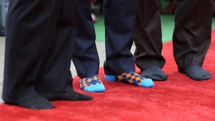 Trudeau'nun renkli çorapları katıldığı törene damga vurdu