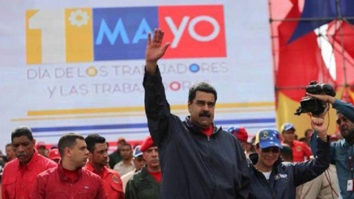 Maduro 1 Mayıs kutlamalarında yeni meclis ve anayasa çağrısı yaptı