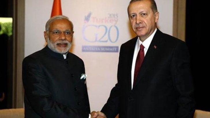 Cumhurbaşkanı Erdoğan, Hindistan Başbakanı Narendra Modi ile görüştü
