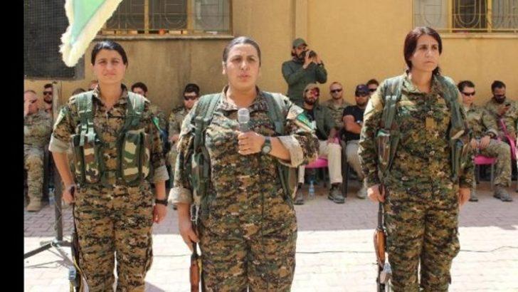 ABD'li askerler YPG'lilerin yemin törenine katıldı