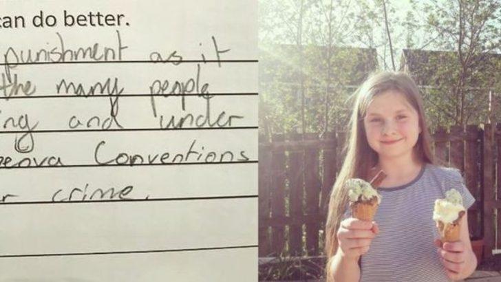 Küçük kızdan öğretmenine: Toplu cezalandırma yönteminiz Cenevre Sözleşmesi'ne aykırı