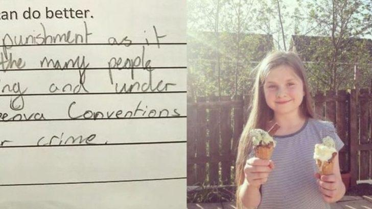 Küçük kızın öğretmenine verdiği cevap sosyal medyada olay yarattı