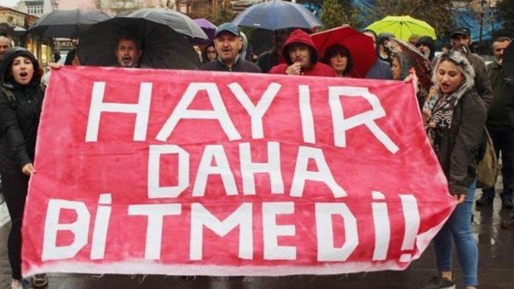 Uşak'ta YSK protestosunda 14 gözaltı