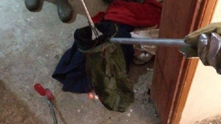 Mersin'de çamaşır sepetinden yılan çıktı