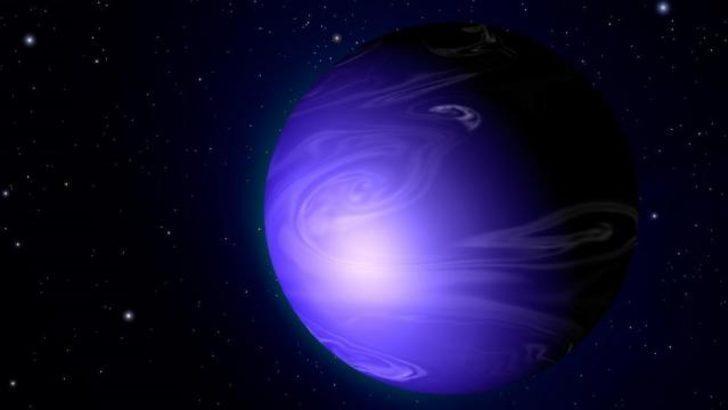 Cam yağmurlarıyla yıkanan 'mavi' gezegen