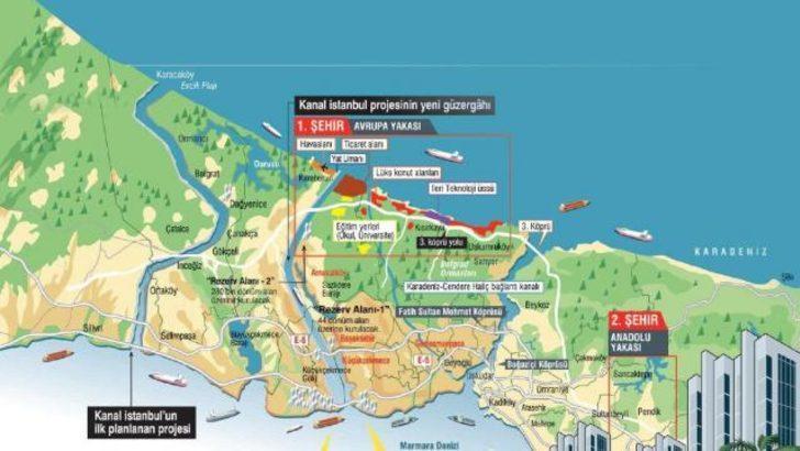 İşte Kanal İstanbul için belirlenen güzergah