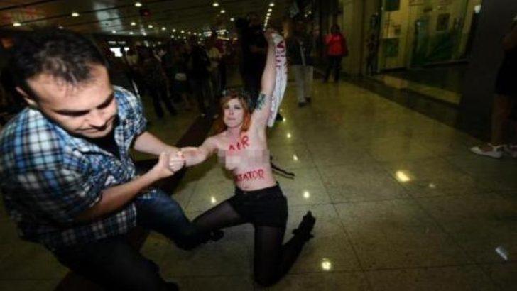 Femen üyesine 'Türkiye' cezası