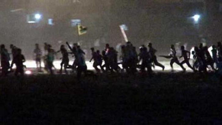 Yine ortaya çıktılar, polisle çatıştılar!