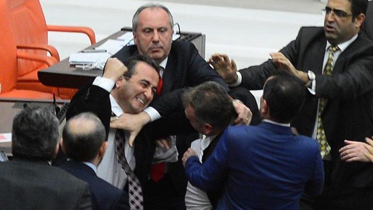 Meclis'te yumruklar atıldı, gözlükler kırıldı