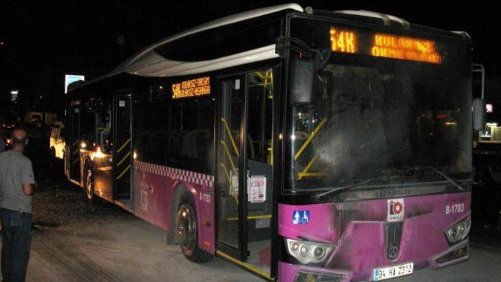 Halk otobüsüne molotof kokteyli saldırı