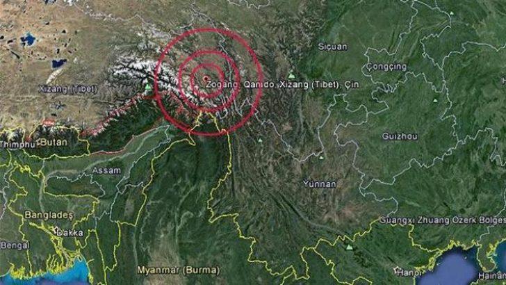 Tibet'te 6,1 büyüklüğünde deprem