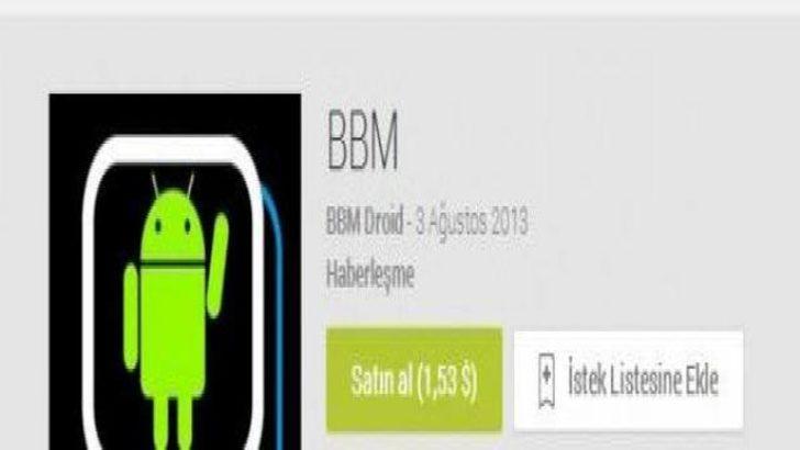 Google Play'de sahte BBM