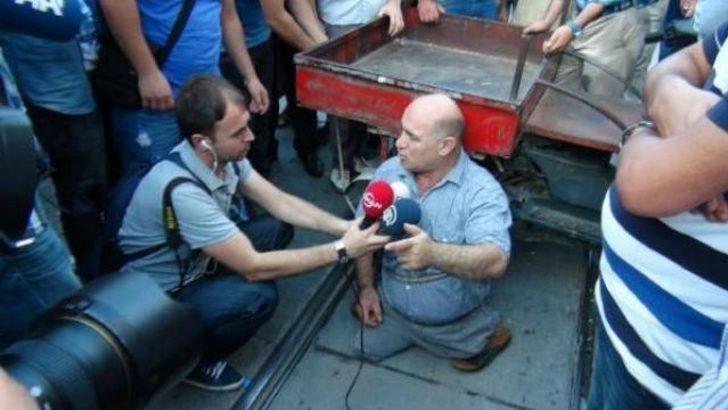 Taksim'de sıradışı Mısır eylemi