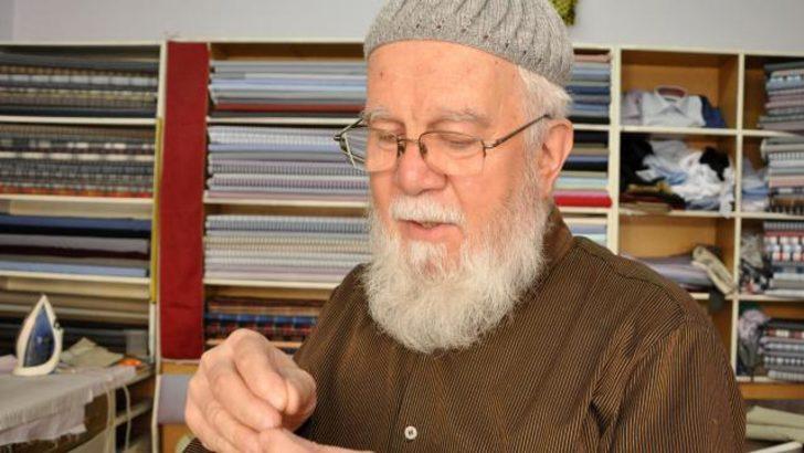 71 yaşındaki duayen terzi mesleğine aşık