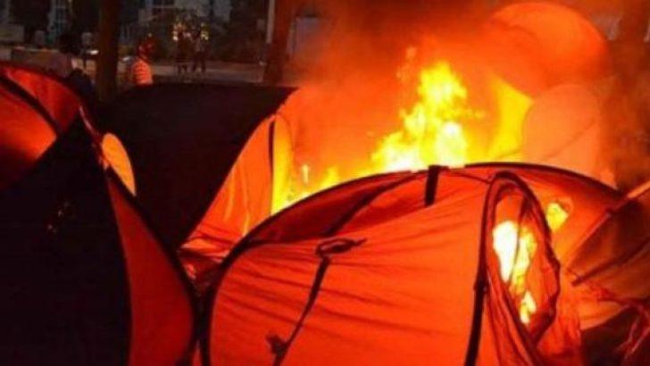Gezi çadırlarını yakanlar görevde