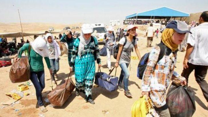 Onbinlerce Suriyeli Kuzey Irak'a göçüyor