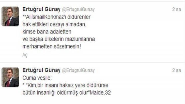 Günay'dan ağlayan Erdoğan'a 'Ali' çıkışı