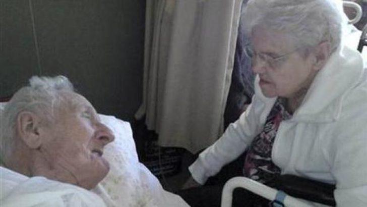 65 yıllık aşka birlikte veda ettiler