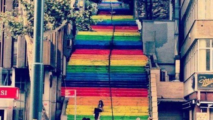 Fındıklı Merdiveni rengarenk