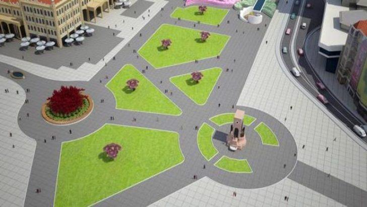 Taksim Meydanı'nda kazı çalışması başlatıldı