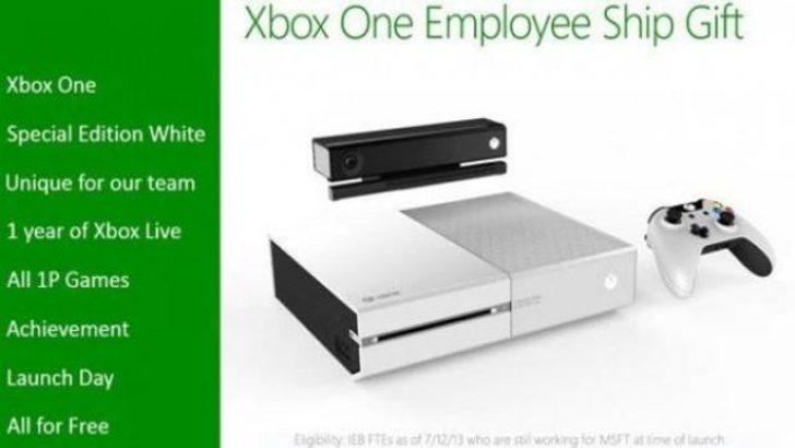 Microsoft çalışanlarına özel Beyaz Xbox One