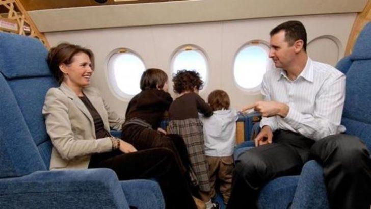 'Esad ailesiyle Tahran'a gitti'