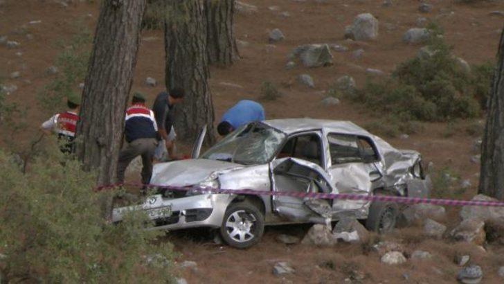 Fethiyede trafik kazası; 1 ölü 1 yaralı