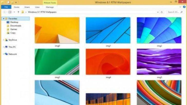 Windows 8.1′in arkaplanları sızdırıldı