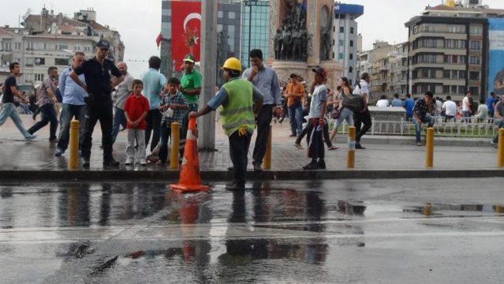 Taksim Meydanı'nda 'patlayan' serinlik
