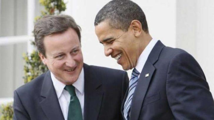 Cameron'dan Obama'ya destek
