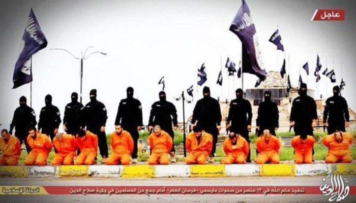 IŞİD 13 Sünni'nin infaz görüntülerini yayımladı