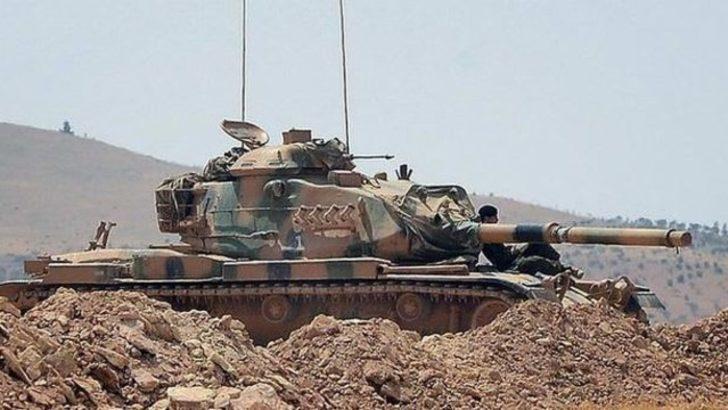 TSK: Cerablus'un batısında teröristler 1 tanka saldırdı