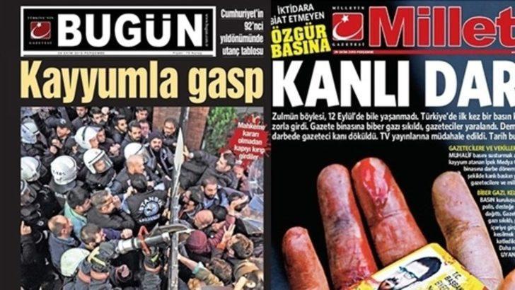 Bugün ve Millet gazetelerinin baskısı durduruldu, sayfalar Twitter'dan paylaşıldı